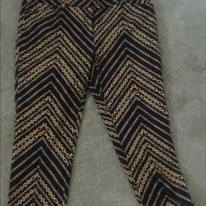 New York & Company Blue and gold link design pants